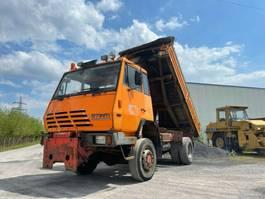 tipper truck > 7.5 t Steyr 4X4, Meiller Kipper, Full Steel, Manual 1987