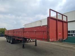 flatbed semi trailer LAG Platform met borden 1987