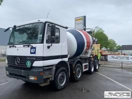 concrete mixer truck Mercedes-Benz Actros 4140 Full steel - Big axles - Manual - 9M3 1998