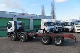 chassis cab truck Iveco TRAKKER 450 8X4  FULL SPRING (FRANCE TRUCK),  BIG AXELS,  GOOD TYRES, AIRCO! 2007