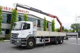 platform truck Mercedes-Benz Axor 2633 , EEV , 6X4 , BOX 7,5m , FASSI 10m / 6.000kg , REMOTE 2014