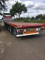 flatbed semi trailer Kässbohrer LOWBED Verhuur / only Rental 2020