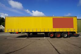 sliding curtain semi trailer Floor 3 AXLE CURTAINSIDE TRAILER 1981