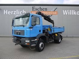 tipper truck > 7.5 t MAN TGM 18 BB, 4x4, Kipper/Kran 2006