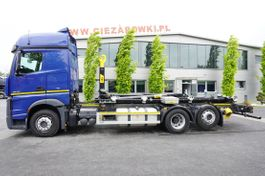 container truck Mercedes-Benz Actros 2545 , E6 , 6X2 , NEW HOOK 20T HYVA , new retarder 2018