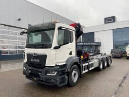 container truck MAN New Generation 35.470 8x4-4 BL-NN HMF 2320 K4 & K5 kraan+containerhaak 2022