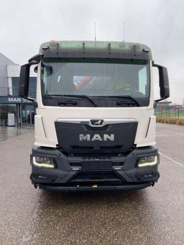 Container-LKW MAN New Generation MAN TGS 35.470 8x4-4 BL-NN HMF 2320 K4 & K5 kraan+containerhaak 2021