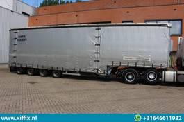 Satteltieflader Auflieger Dinkel 4-ass. Semi dieplader met elektrische huifopbouw // 2x Naloop gestuurd 2011