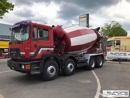 concrete mixer truck MAN 32.322 Full steel - Manual - Mech pump - 9M3 1994