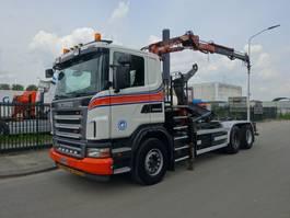 Container-LKW Scania G 380 6X4 HAAKSYSTEEM + ATLAS KRAAN / CONTAINER / TOP CONDITION !! 2008