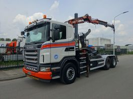 container truck Scania G 380 6X4 HAAKSYSTEEM + ATLAS KRAAN / CONTAINER / TOP CONDITION !! 2008