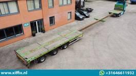 flatbed semi trailer Faymonville 3-ass. Vlakke dubbel (2x) uitschuifbare MEGA oplegger // 3x gestuurd 2014