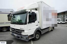 closed box truck Mercedes-Benz Atego 818 box truck w/ lift 2011