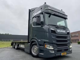 Pritschenwagen  Scania R650 V8 6x2 car/machine transporter lease v.a. 1770€ p.m. 2018
