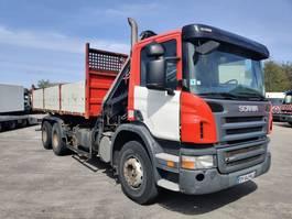 tipper truck > 7.5 t Scania P 380 CB 6X4 HHZ + HIAB 144 B3 duo + KIPPER 2008