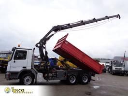 crane truck Mercedes-Benz Actros 2646 6X4+ Hiab 288 + Kipper+REMOTE 2007