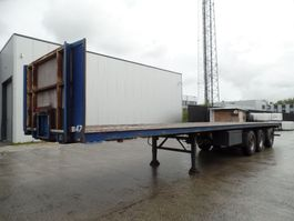 drop side semi trailer Bulthuis open oplegger met stuuras + Kooiaap aansl. 1994