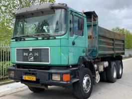 tipper truck > 7.5 t MAN 24-332 Full Steel Suspension 6 cylinder  BIG AXLES 1988