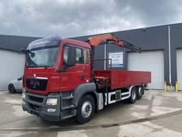drop side truck MAN TGS 26.360 OPENLAADBAK + KRAAN