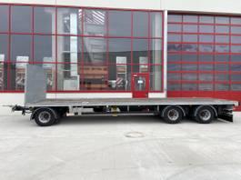 flatbed full trailer Möslein TW3-P Schwebheim 3 Achs Jumbo- Plato- Anhänger 9 m, BallenwagenNeuwertig 2018