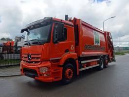 garbage truck Mercedes-Benz ANTOS 2532 6X2 EURO 6  VUILNISWAGEN / KEURING / TUV / LOW KM / PERFECT CONDITION !! 2014
