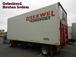 closed box trailer Netam-Fruehauf 2 As Vrachtwagen Aanhangwagen - T.b.v. Stalling en Opslag, WG-86-ZG 1991