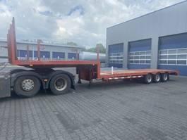 semi lowloader semi trailer Broshuis E 2190/24, Extandable 550 cm, Steel suspension 1983