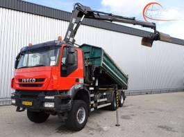 tipper truck > 7.5 t Iveco AW 380T41 6x6 Kipper E5, Hiab 14TM Kraan, Crane, Kran 2008