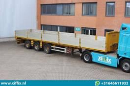 flatbed semi trailer Renders 3-ass. Oplegger met borden // 2x Gestuurd 2008
