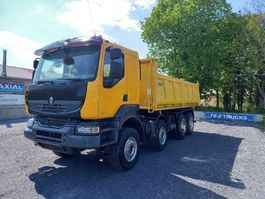 tipper truck > 7.5 t Renault Kerax 450 3 WAY TIPPER - 8x4 - new tyres  only 261 000kms