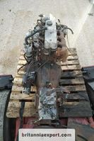 Engine truck part Perkins 4.182 engine and 5 speed manual gearbox for Mazda T3000. 1987