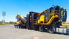 crusher FABO MCK-110 MOBILE CRUSHING & SCREENING PLANT   JAW+SECONDARY 2021
