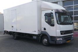 closed box truck DAF LF 45 160 CLOSED BOX L6.00 B2.50 H 2.42 SHIFTS ONLY MANUAL NOT AUTOMATIC !! 2008