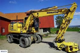 wheeled excavator Komatsu PW148-8 w / rotor tilt & 3 bucket 2013