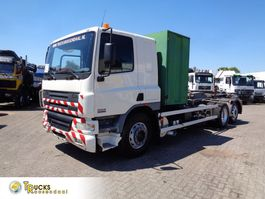 container truck DAF CF 75 + Manual + chain container system 2006