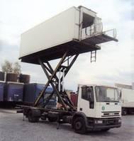 closed box truck Iveco EuroCargo 120 120 E 15 Catering Sky Koffer 6m high Werbung 2000