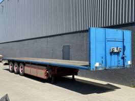 flatbed semi trailer Van Hool 3B2007 / Open oplegger / BPW / Hardhouten vloer / NL trailer 1997