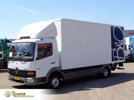 closed box truck Mercedes-Benz Atego 815 + Euro 2 + Dhollandia Lift + BLAD-BLAD 1999