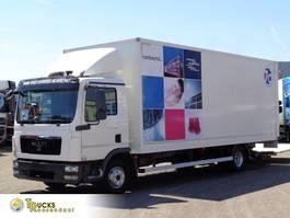closed box truck MAN TGL 12 + Euro 5 + Dhollandia 2012