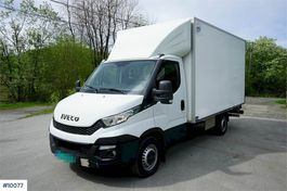 closed box truck Iveco Daily P35S15 box truck with side door and lift. Kl 2016