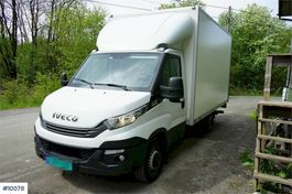 closed box truck Iveco Daily P35S16 Box truck with automatic transmission 2018