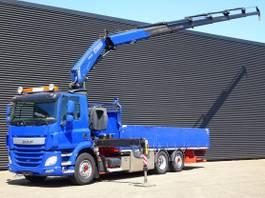 platform truck DAF CF 460 EURO 6 / FASSI 24 t/m / 16.85 mtr! / LIFT STEERING AXLE 2014