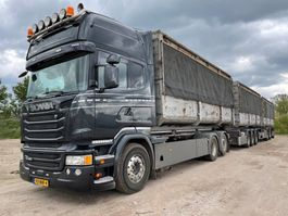 container truck Scania Scania R450 Topline 6x2   Containersystem +2x  trailer Tandem + tripple axle   Combi LHV LZV Lang-LKW Roadtrain 2016