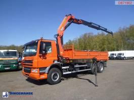 platform truck DAF CF 75 6x4 Euro 5 tipper + Palfinger PK23500 2010