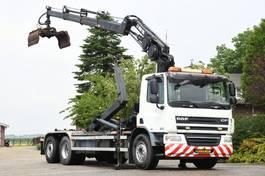 container truck DAF CF75/250 FAN !!KRAAN/HAAK!! RADIO REMOTE/EURO 5!!  185dkm!! 2007