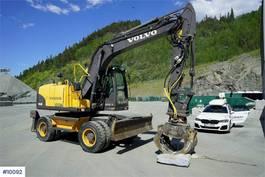 wheeled excavator Volvo EW140 C w / sorting pinch 2011