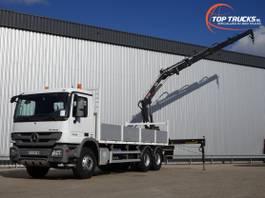 platform truck Mercedes-Benz Actros 2636 6x4 - Hiab 16TM Kraan, Crane, Kran, Grue - Euro 5 2011