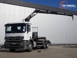 platform truck Mercedes-Benz Actros 2636 6x4 - HIAB 14TM Kraan, Crane, Kran, Grue - BB - Remote control 2011