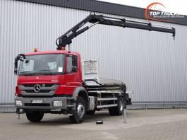 platform truck Mercedes-Benz Axor 1829 Hiab 14TM Kraan, Crane, Kran - Remote control - Euro 5 2013