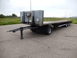flatbed semi trailer Van Hool 3B2011 3 As Oplegger Open MEGA I.c.m. een Dolly, OJ-23-SY 2007